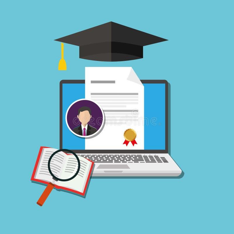 Online stopień edukacja ilustracji