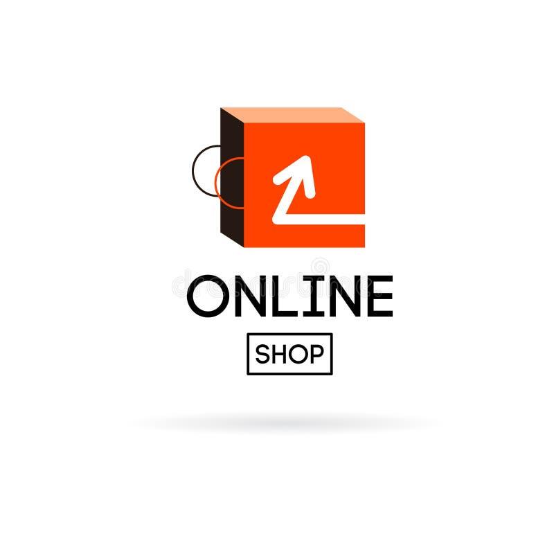 online store design logo stock vector image 56259392. Black Bedroom Furniture Sets. Home Design Ideas