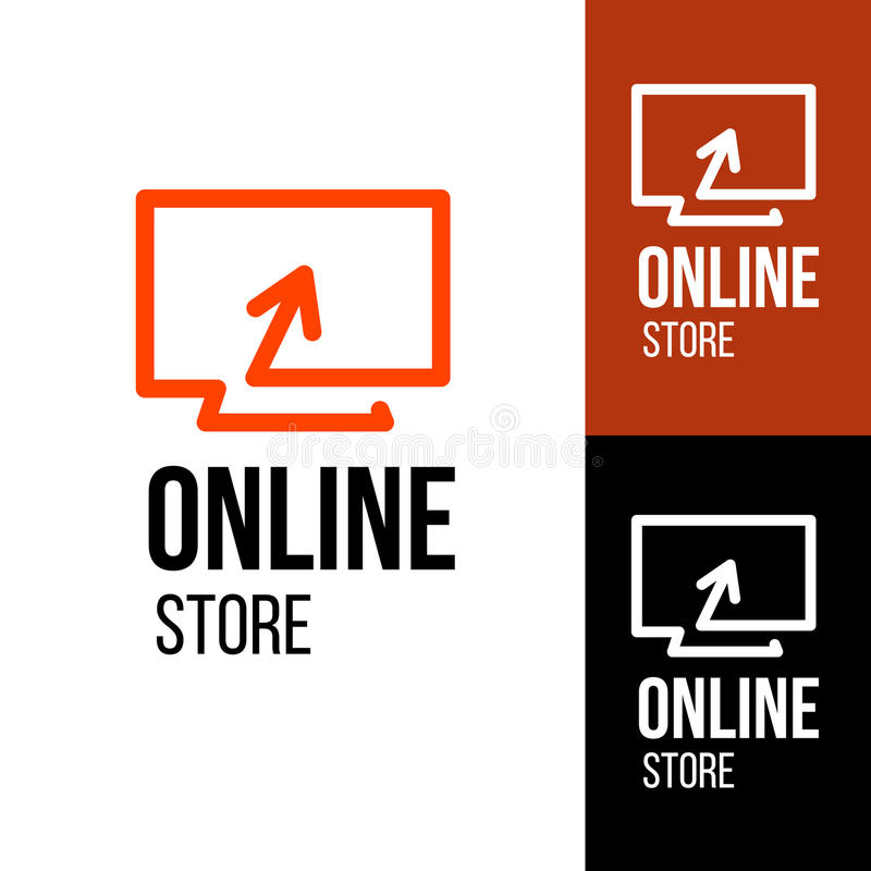 Online store design logo royalty free illustration