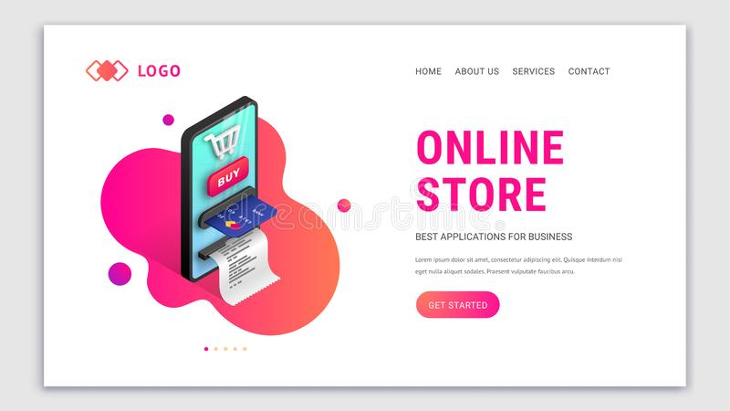 Online store Landing page concept royalty free illustration