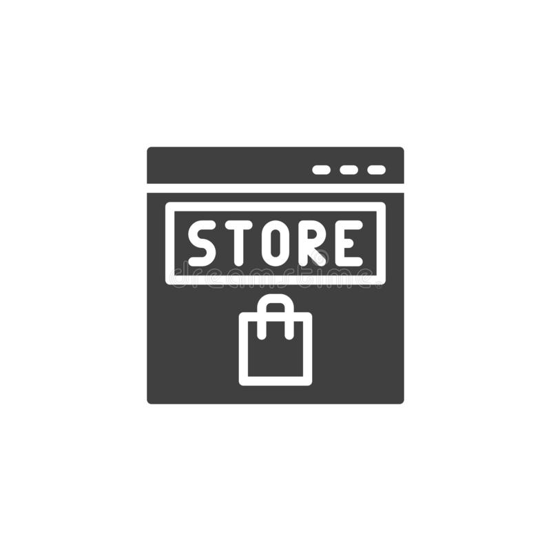 Online store vector icon royalty free illustration