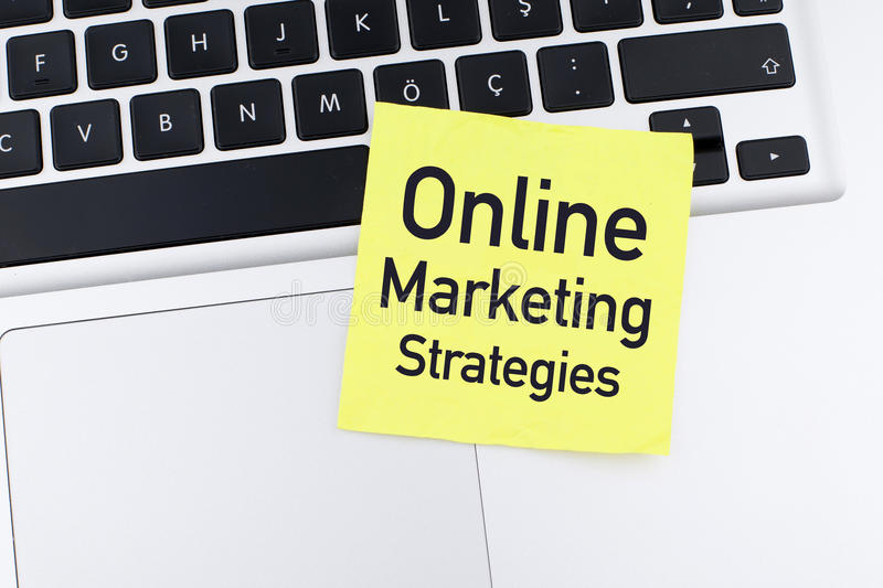 Online strategia marketingowa obrazy royalty free