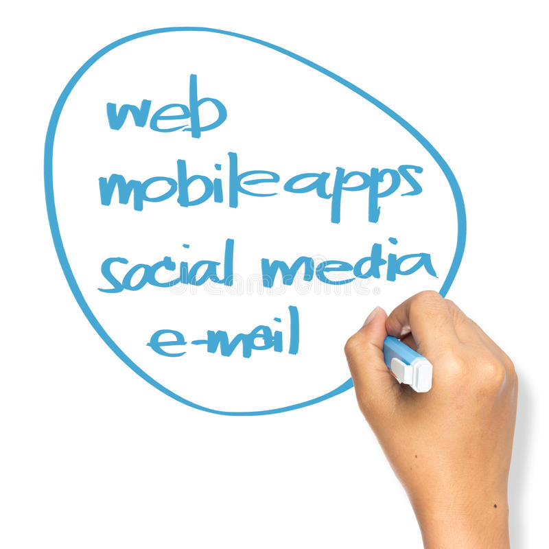 Download Online strategy stock image. Image of hand, social, communication - 34306049