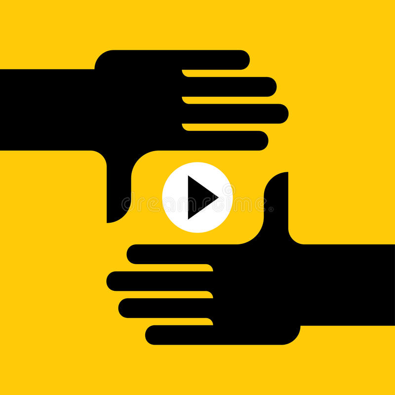 Online stream video. Video marketing, Film industry, internet online stream video. vector illustration royalty free illustration