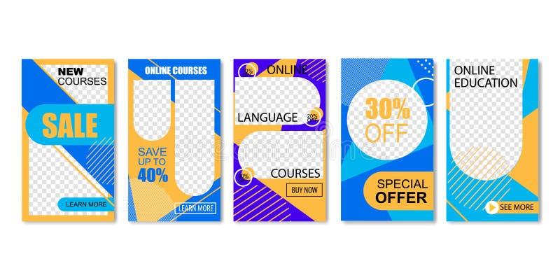 Online Taalcursussen, Onderwijs Speciale aanbieding royalty-vrije illustratie