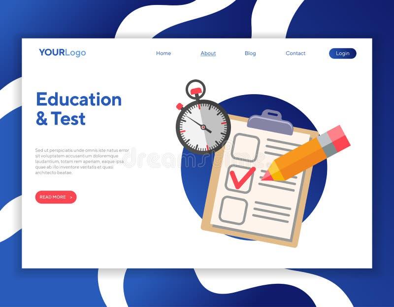 Online Test en Onderwijs vector illustratie