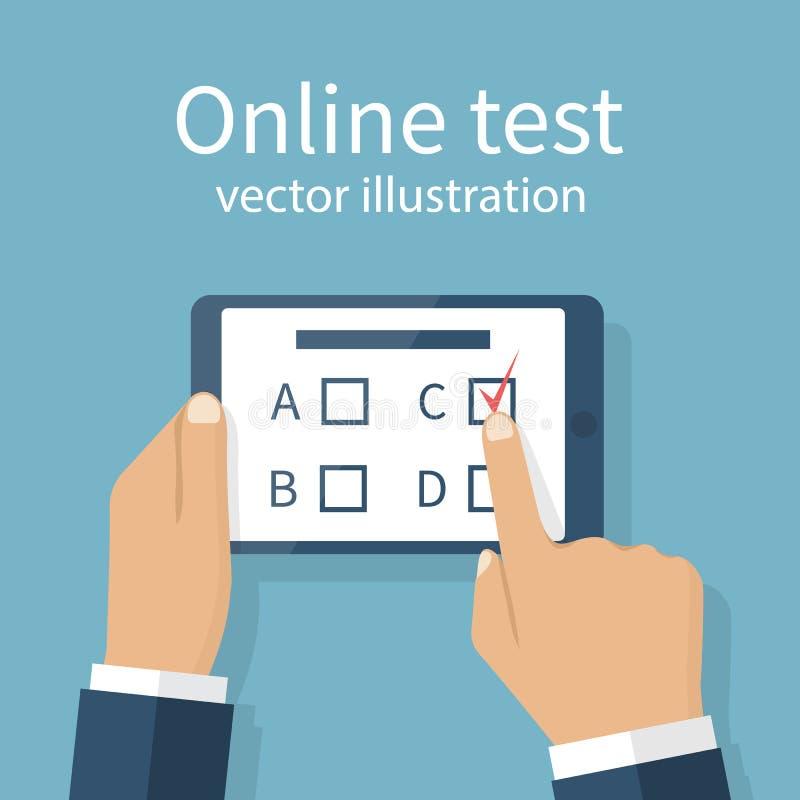 Online testa wektor ilustracji