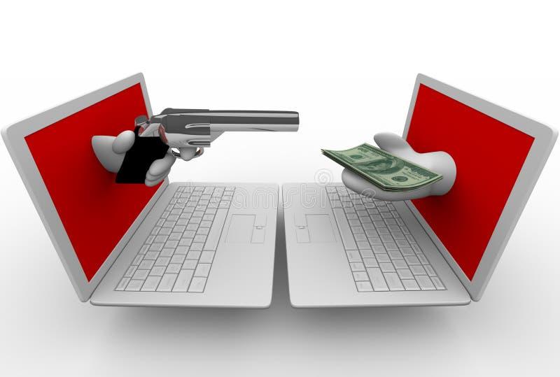 Download Online Theft - Computer Laptops Stock Illustration - Image: 12979123