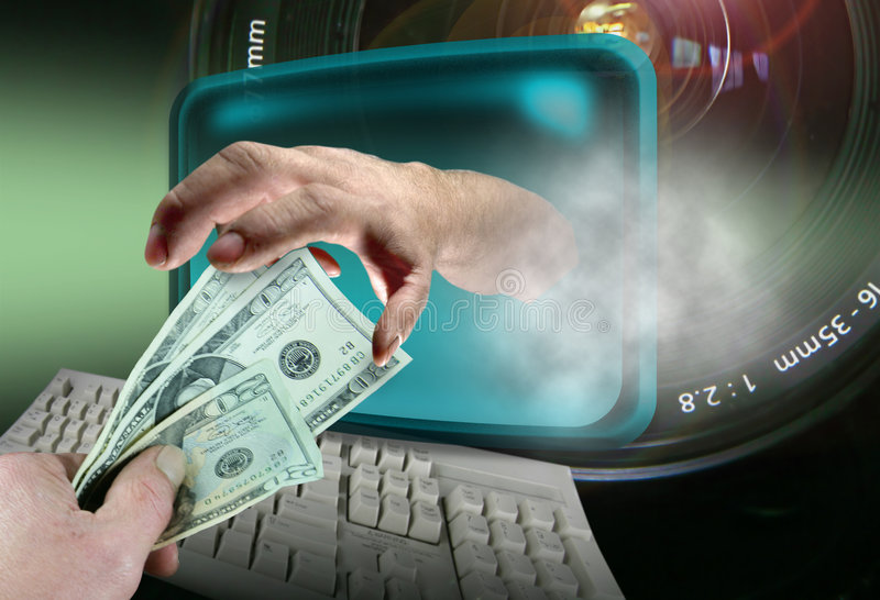 Download Online Thief stock image. Image of cart, computer, credit - 356737