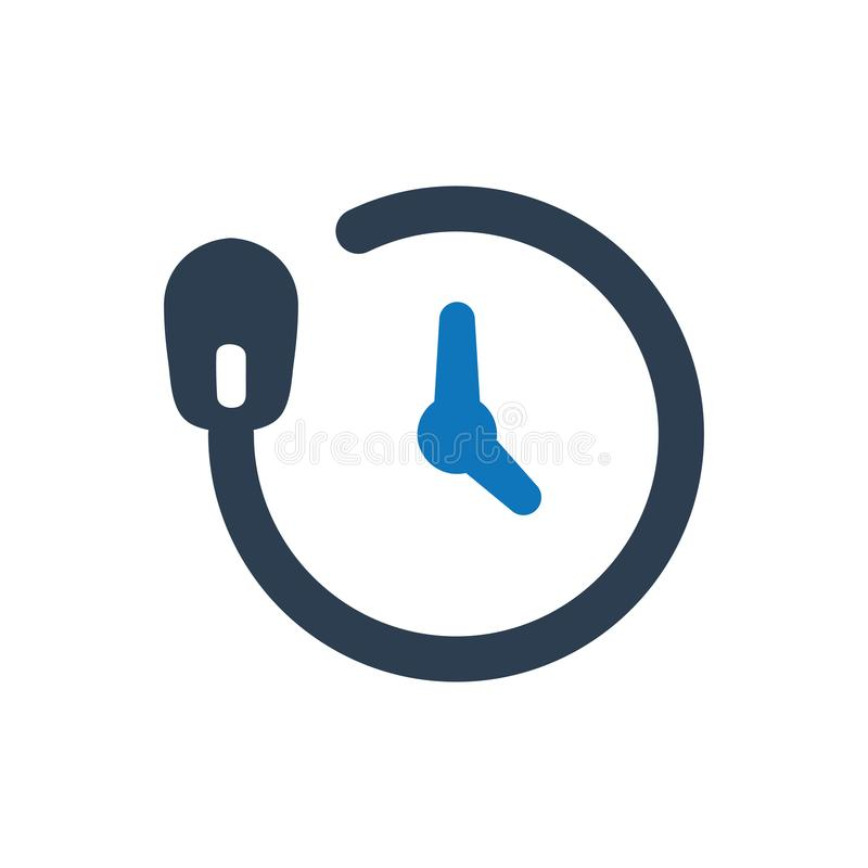 Online Time Icon vector illustration