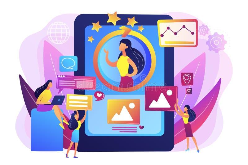 Online tożsamości zarządzania pojęcia wektoru ilustracja royalty ilustracja
