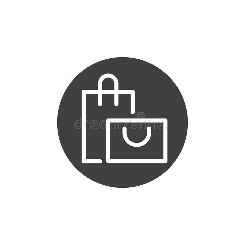 Online torba na zakupy guzika ikony wektor ilustracja wektor
