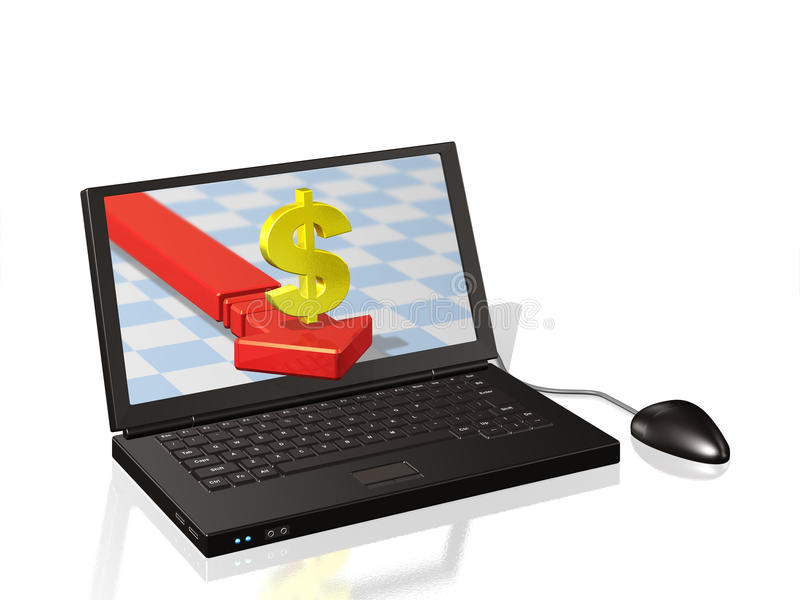 The Online Trading Royalty Free Stock Images