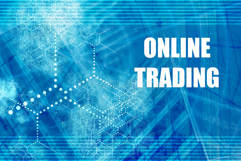 Online Trading royalty free illustration
