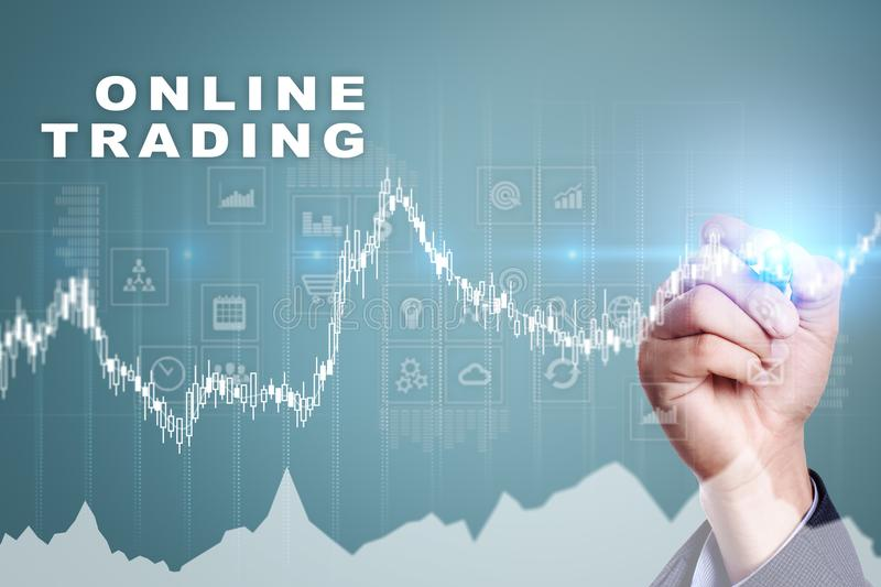 Online trading. internet investment. Business and technology concept. stock photos