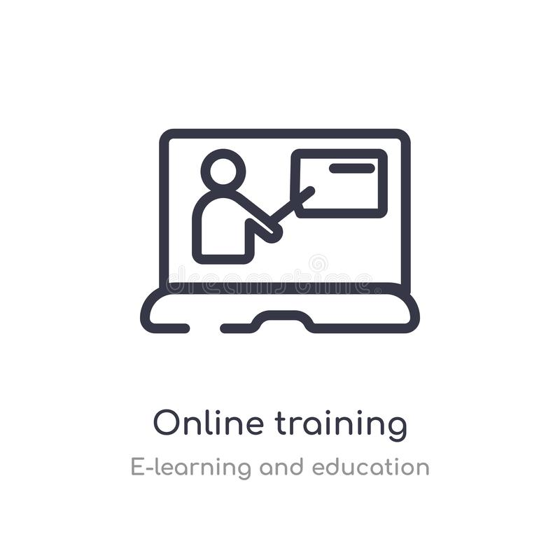 Free Online Training Outline Icon. Isolated Line Vector Illustration From E-learning And Education Collection. Editable Thin Stroke Royalty Free Stock Photos - 146039998
