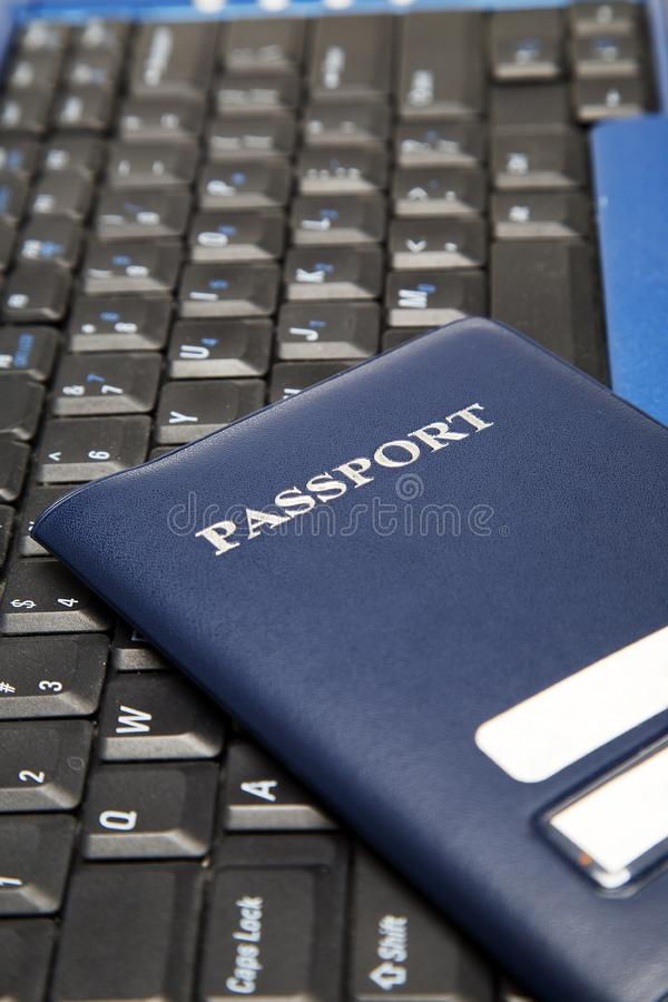 Online Travel Booking Stock Photo