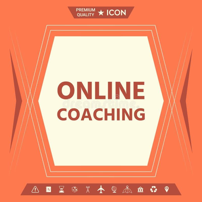 Online trenowanie ikona royalty ilustracja