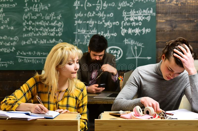 Online tutor can always choose to independently. Be cool and you will be able to attract and retain lot more students stock image