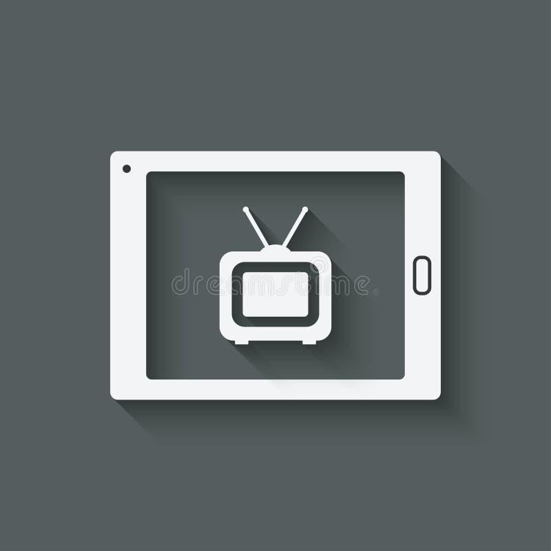 Free Online Tv Symbol Royalty Free Stock Photo - 49024895