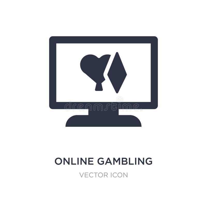 online uprawia hazard ikona na białym tle Prosta element ilustracja od UI pojęcia ilustracji