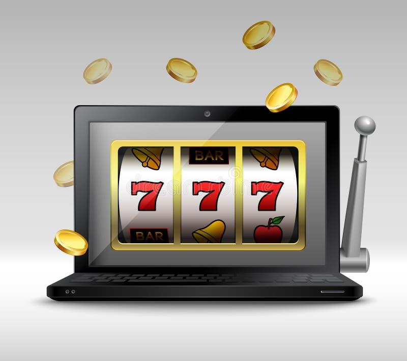 Online uprawia hazard pojęcie ilustracji
