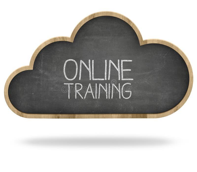 Online-utbildning och beräknande begrepp för moln arkivbild