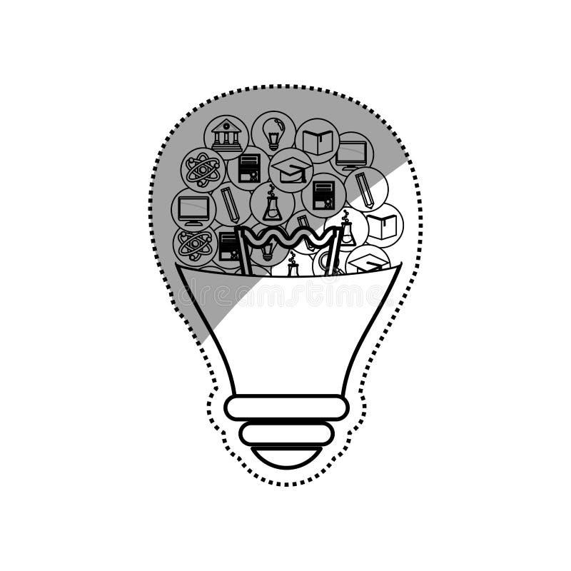 Online-utbildning som e-lär stock illustrationer