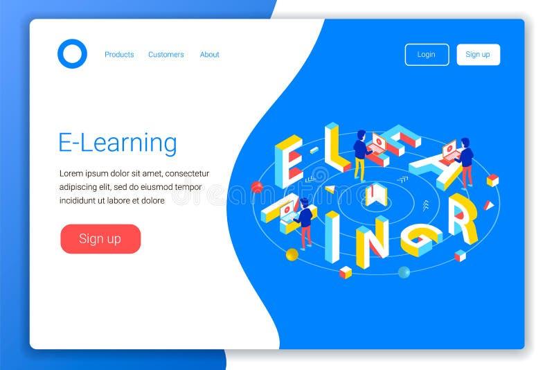 Online-utbildningsdesignbegrepp stock illustrationer