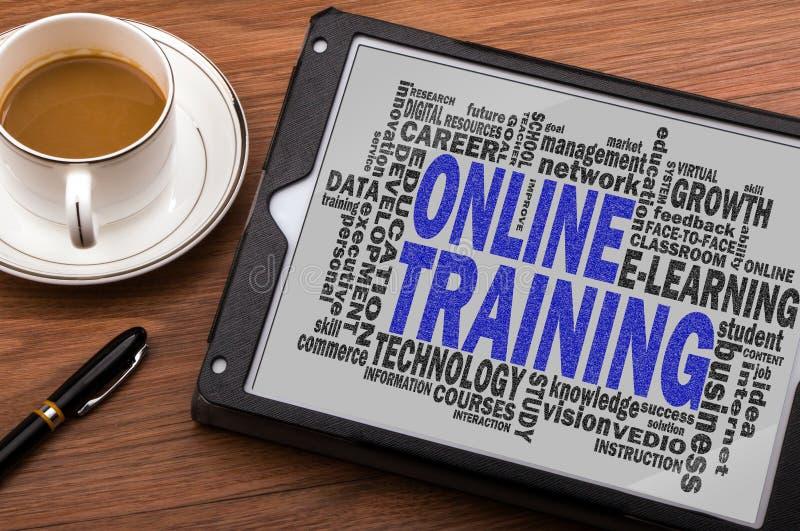 Online-utbildningsordmoln fotografering för bildbyråer