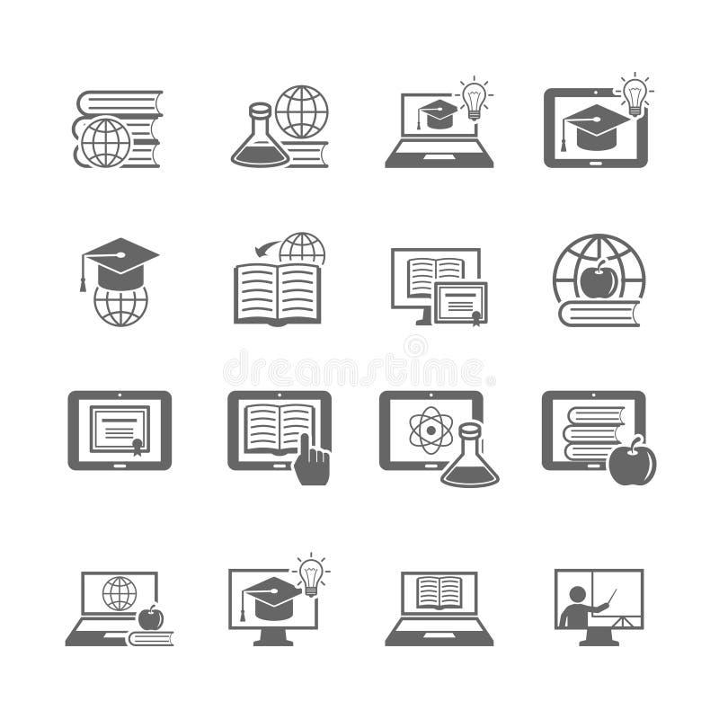 Online-utbildningssymbol stock illustrationer