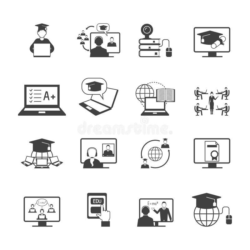 Online-utbildningssymbol royaltyfri illustrationer