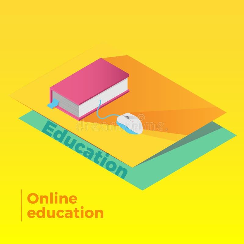 Online-utbildningsvektor royaltyfri illustrationer