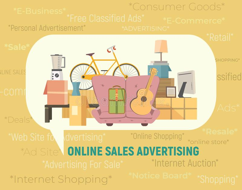 Online-Verkauf-Ikone stock abbildung