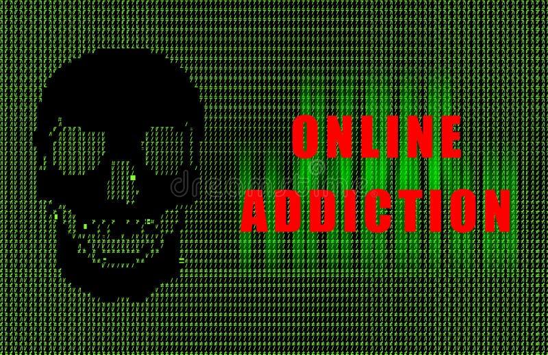 Online Verslaving royalty-vrije illustratie