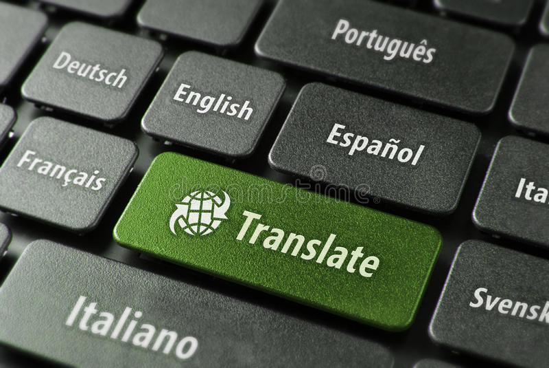 Online vertaaldienstconcept royalty-vrije stock foto's