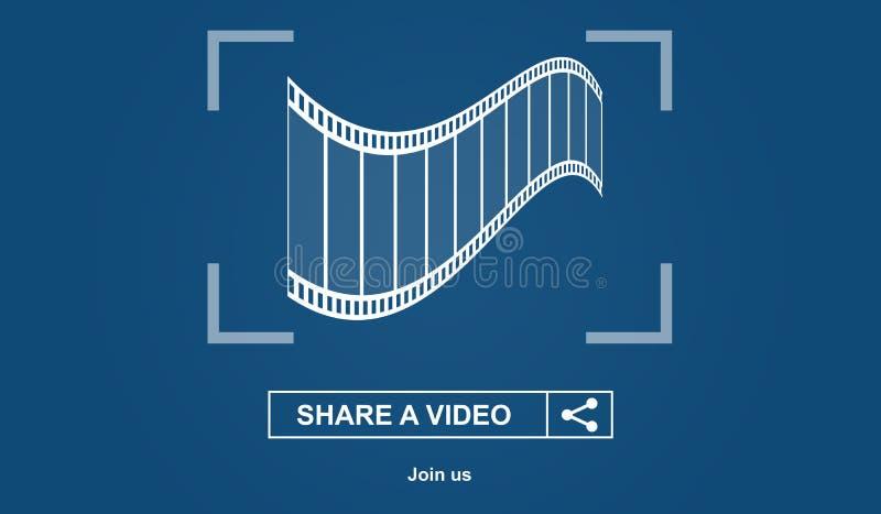 Online-videopn dela begrepp vektor illustrationer