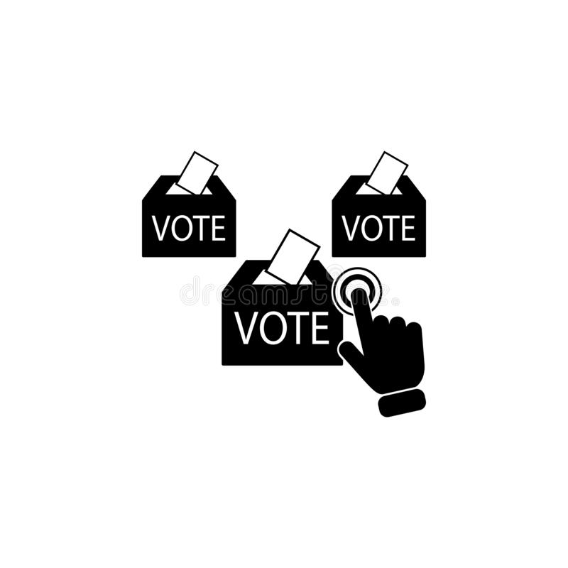 Online voting concept on touch screen icon. Element of touch screen technology icon. Premium quality graphic design icon. Signs an. D symbols collection icon for stock illustration