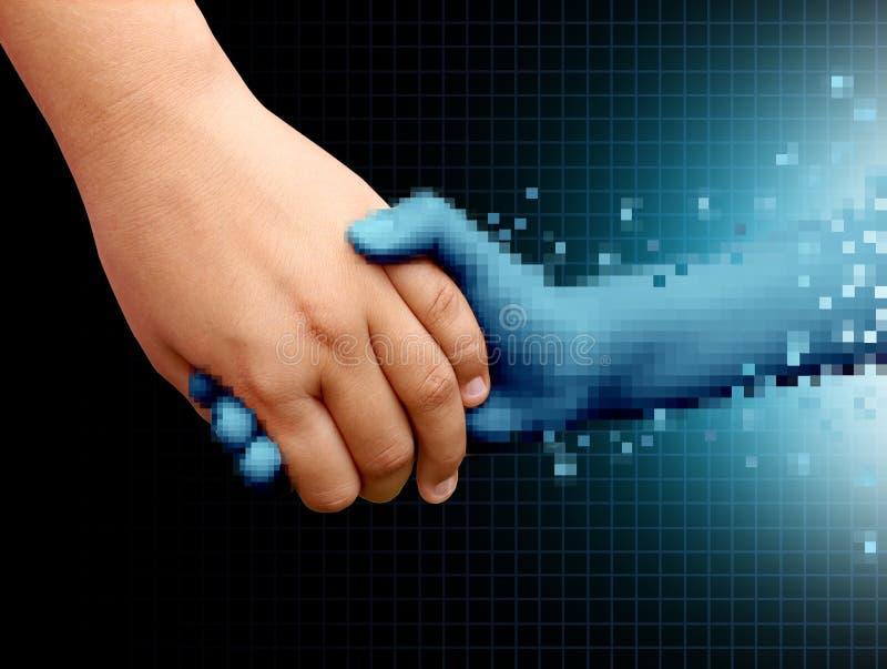 Online Vriendentechnologie en Verhoudingen stock illustratie