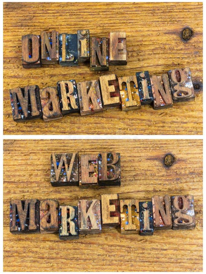 Online web marketing education sales royalty free stock image