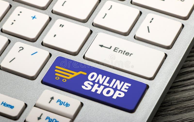 Online winkel stock foto