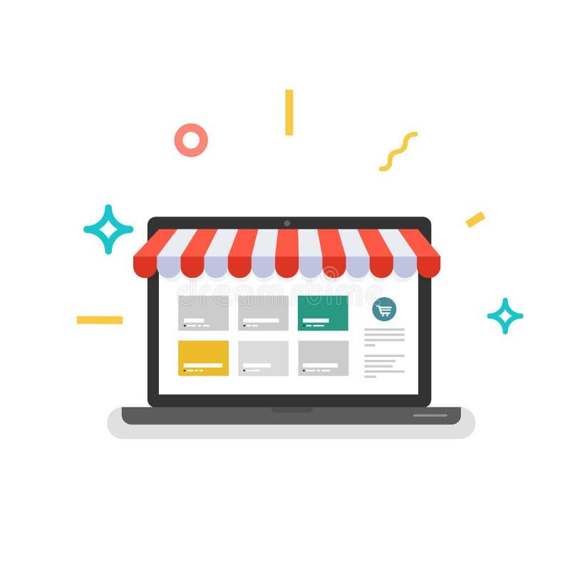 Online winkel Webopslag royalty-vrije stock afbeeldingen