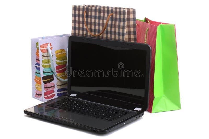 Online Winkelend royalty-vrije stock afbeelding