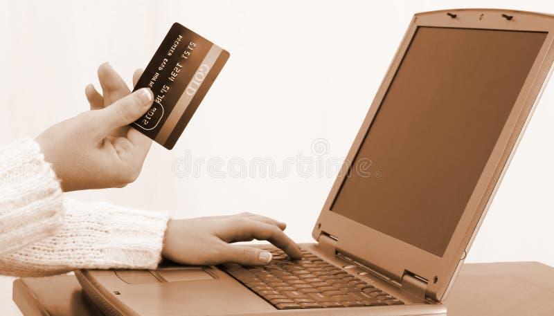 Online Winkelend of Betalend Rekeningen royalty-vrije stock foto's