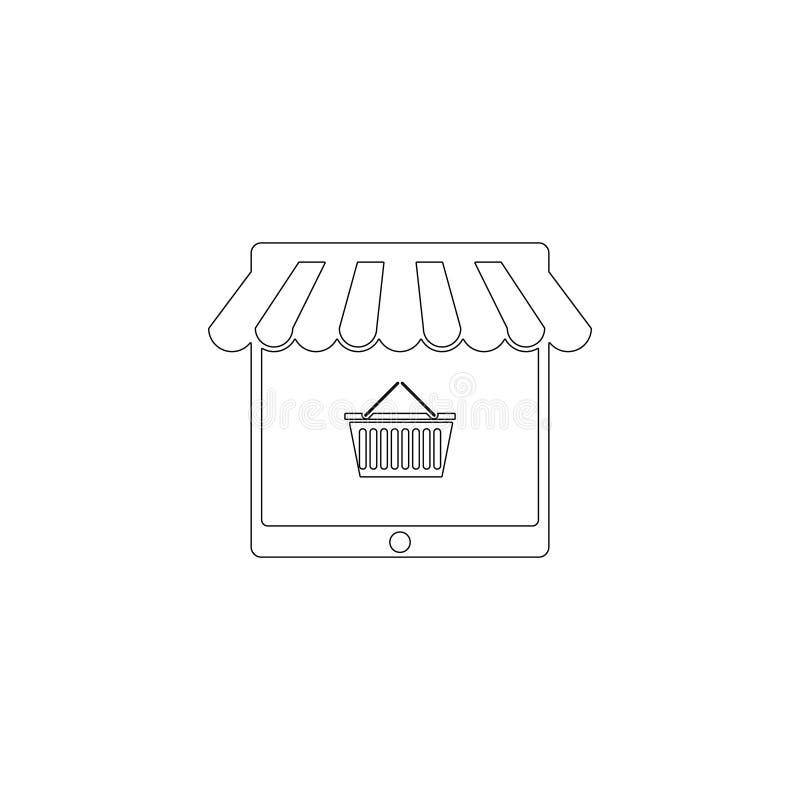 Online Winkelend Vlak vectorpictogram stock illustratie