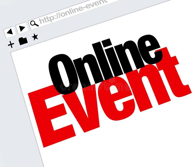 Online wydarzenie strona internetowa Formułuje Internetowego Cyfrowego spotkania przedstawienie royalty ilustracja