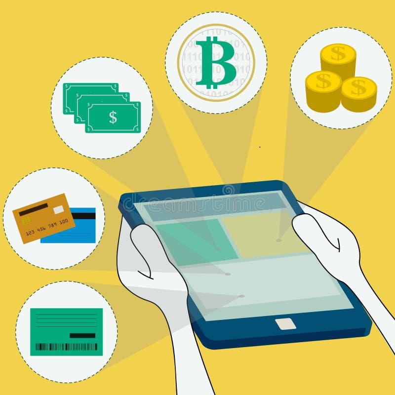 Online-Zahlungs-Methoden lizenzfreie abbildung