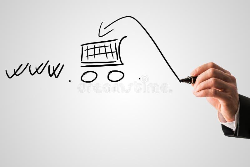 online zakupy i handlu elektronicznego pojęcie obraz royalty free
