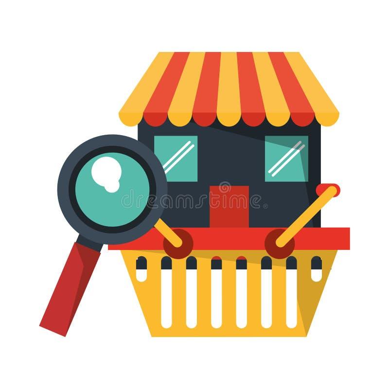 Online zakupy i zap?ata royalty ilustracja