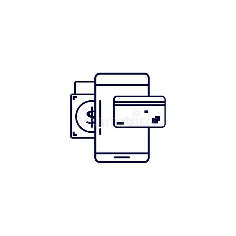 online zakupy ikona, Wektorowa ilustracja Płaski ikona wektor Na białym tle ilustracji